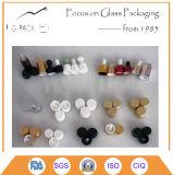 botella de perfume de cristal blanca 50ml, botella de petróleo esencial con el cuentagotas