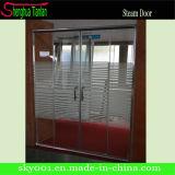 Fibra de vidrio Tempered de la seguridad del nuevo marco que resbala la pantalla de ducha (TL-8893)