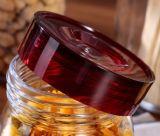 Utensilios de cocina de cristal redondos púrpuras del almacenaje del tarro de las tapas 4sets