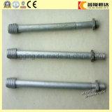 Pin modifié d'isolant d'axe galvanisé par acier