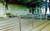 Vloer - de opgezette Balustrade van de Staaf van het Roestvrij staal met de Horizontale Staaf van het Staal voor Balkon