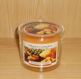 Duftendes Sojabohnenöl-romantische Kerze im freien Glasglas mit Kappe