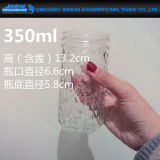 四捨五入された透過ガラスビンの石大工ガラスの瓶