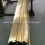 tubo de cobre amarillo cuadrado decorativo difícilmente drenado largo Cuzn36 de los 6m