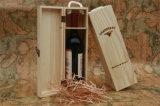 Коробка подарка вина дешево незаконченной одиночной бутылки OEM деревянная
