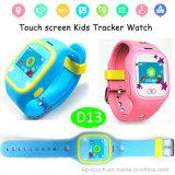 Relógio esperto dos miúdos eletrônicos com a tela da cor com opções do silicone ou da cinta de couro (D13)