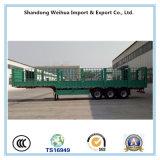 半三車軸中国の製造からのバルクトレーラーの棒の塀のトレーラー