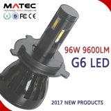 96W 9600lm que enciende la luz LED 6000k H4 H11 5202 de la pista de la linterna del coche de 4 caras