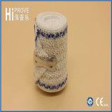 Atadura elástica do elástico do Crepe do Spandex da atadura do Crepe Unbleached do algodão