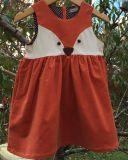 Principessa pura Dress di Fox del cotone di colore dell'urto per i vestiti dei bambini