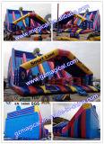 Corrediça inflável gigante da pista da selva três (MCA-64)