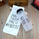Meine Flasche, trinkende Glasflasche, Glasbehälter, Getränkeflasche leeren
