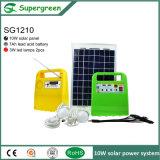 充満照明のための10W携帯用パネルの太陽キット、ラップトップ