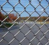 Гальванизировано, загородка ячеистой сети звена цепи покрытия PVC
