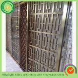 Construcción de Edificios pantalla plegable Tabique de acero inoxidable de Dubai Proyecto Metal Work