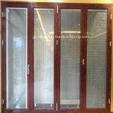 Puerta plegable de aluminio del patio de las lumbreras incorporadas (HM-30)