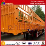 De 3 essieux de pieu de Tri-Essieu de frontière de sécurité de Tansport remorques de cargaison de bétail de remorque semi et de transporteur de marchandises de ferme