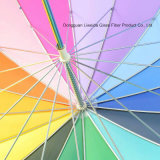 Regenbogen-grosser Regenschirm des Automobil-geöffneter starker gerader Geschäfts-16k