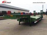 Semitrailer de Lowbed do reboque da plataforma do Gooseneck 3axles baixo
