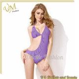 Зашнуруйте вверх соединяя Swimwear Бикини Swimsuit Halter Stock для женщин