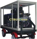 Quattro rotelle reggono la macchina mobile di trattamento dell'olio del trasformatore