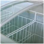 Bildschirmanzeige-Glastür-Bogen-Brust-einfrierender Schaukasten