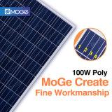 Panneau de pouvoir à énergie solaire à la maison de Moge 12V100W