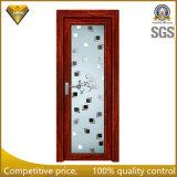 Porte en aluminium Nice et intense de qualité en verre givré de toilette
