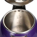 1.7L double couche d'ébullition de l'eau en acier inoxydable bouilloire électrique