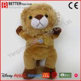 Animales rellenos de la felpa suave de los juguetes En71 que colocan el león