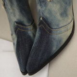 Специальное украшение Rhinestone Jean верхнее материальное над ботинками колена