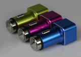Téléphone portable Alliage d'aluminium Car Power Charger 2 Ports USB 5V 2.1A