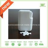 Tablettes de Stevia dans le distributeur avec l'emballage transparent