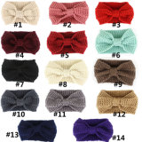 Accessori capi della fascia dei capelli di Headwear della fascia di Hairband dell'involucro lavorati a maglia turbante della signora Ear Warmer Crochet Bowknot delle donne di inverno