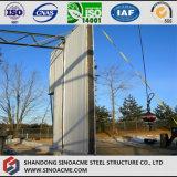Almacén del braguero del tubo de la estructura de acero con el edificio de oficinas