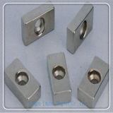 N35-N52 de permanente Magneet van het Blok NdFeB met Speciale Gaten
