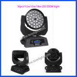 Indicatore luminoso capo mobile dello zoom LED 36PCS*12W di Guangzhou LED