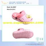 Kids Two Tone Double couleur enfants EVA Cartoon Garden Clogs Chaussures avec des charmes