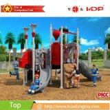 A qualidade garantida Anti-Desvanece-se equipamento ao ar livre plástico novo do campo de jogos usado no parque
