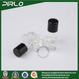 frascos 5ml de vidro pequenos com o parafuso nos frascos de vidro do mini perfume Shaped da flor do tampão
