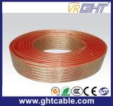 Transparente flexible cable del altavoz (CCA 2X1.0mmsq conductor)