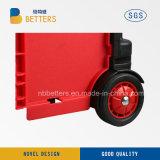 Carrello di acquisto rosso nero di stile di apertura del carrello della drogheria