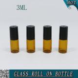 3ml svuotano il rullo di vetro sull'ambra della bottiglia di profumo