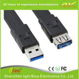 Macho liso do cabo USB3.0 das vendas por atacado ao macho