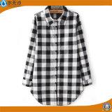 Кофточка платья рубашки способа хлопка кофточки верхних частей женщин OEM фабрики