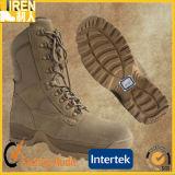 Gaine de désert tactique militaire de bonne qualité de chaussure de sûreté de Mens de cuir de vache à suède