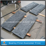 China Padang Dark Antique G654 Escada de granito passos com borda Bullnose completa