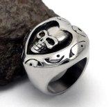 中心の形の頭骨のリングのチタニウムの鋼鉄ゴシック様式パンク