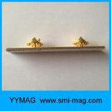Tag conhecido do metal dourado da alta qualidade e emblema conhecido para a venda