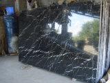 Marmo nero di Nero Marquina, mattonelle di marmo delle lastre dalla Cina